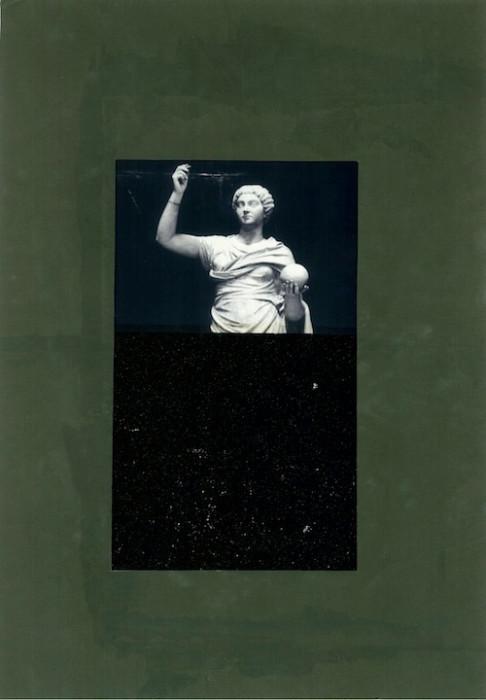 Senza Titolo (Urania), 2016. Collage et encre sur papier, 40,5 x 29,5 cm.