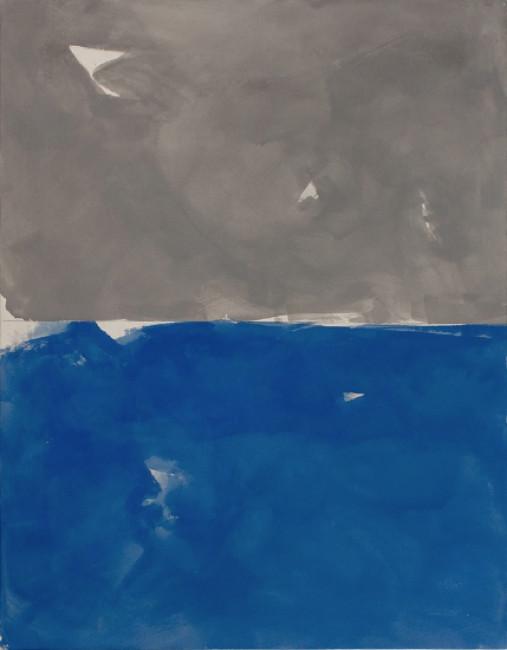 Peter Joseph Grey and blue 2008 Acrylique sur toile de coton. 163 x 127 cm