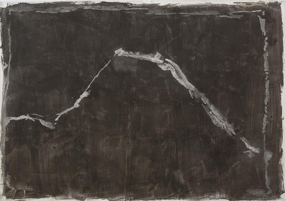 Charles Maussion, Sans titre, 2003. Peinture à l'oeuf sur toile. 170 x 230 cm