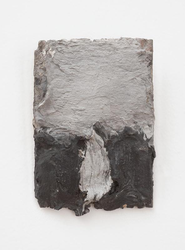 Pierre Tal-Coat Sans titre, 1980. Huile sur boîte de mecarillos, 11,5 x 4,8 cm